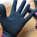 テント設営にはライトグリップの手袋が